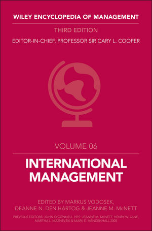Wiley Encyclopedia of Management, Volume 6, International Management, 3rd Edition