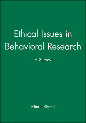Ethical Issues in Behavioral Research: A Survey (1557863954) cover image