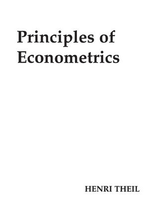 Principles of Econometrics (0471858455) cover image