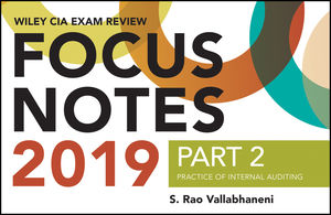 Wiley CIAexcel Exam Review Focus Notes 2019, Part 2: Practice of Internal Auditing