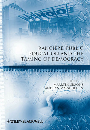 Rancière, Public Education and the Taming of Democracy (1444393855) cover image