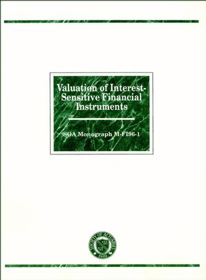 Valuation of Interest-Sensitive Financial Instruments: SOA Monograph M-FI96-1 (1883249155) cover image