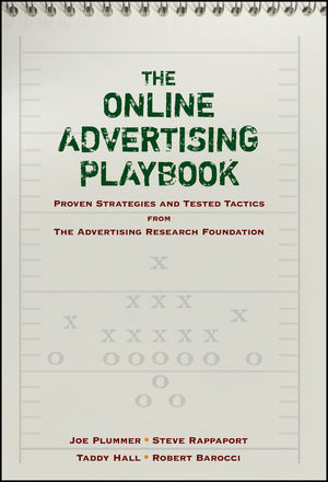 The Online Advertising Playbook: Proven Strategies and Tested Tactics from the Advertising Research Foundation (0470140356) cover image