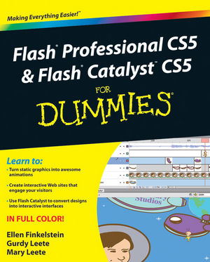 Flash Professional CS5 and Flash Catalyst CS5 For Dummies (0470613556) cover image