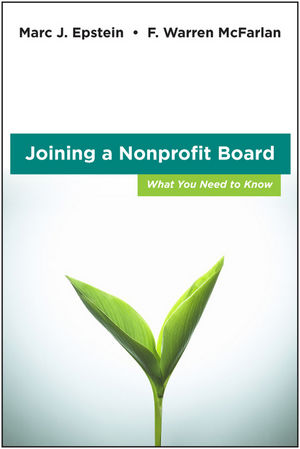 Joining a Nonprofit Board: What You Need to Know (0470931256) cover image