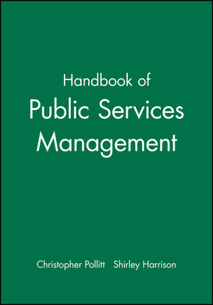Handbook of Public Services Management (0631193456) cover image