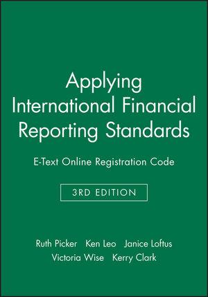 Applying International Financial Reporting Standards 3E E-Text Online Registration Code (0730302156) cover image
