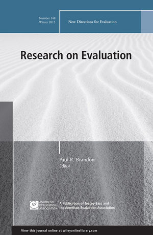 Research on Evaluation: New Directions for Evaluation, Number 148