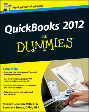 QuickBooks 2012 For Dummies, UK Edition (1119940656) cover image