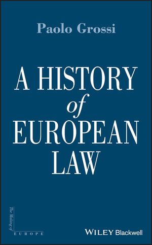 A History of European Law (1444319256) cover image