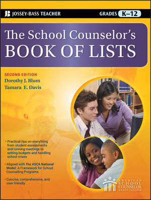 The School Counselor's Book of Lists, 2nd Edition