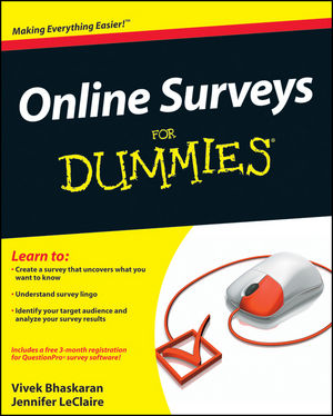 Online Surveys For Dummies (0470610557) cover image