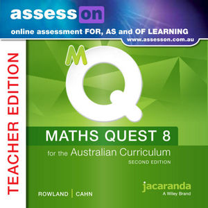 Assesson Maths Quest 8 For The Australian Curriculum Teacher Edition 2E (Online Purchase)