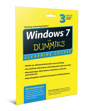 Windows 7 For Dummies eLearning Course Access Code Card (6 Month Subscription)
