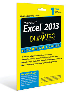 Excel 2013 For Dummies eLearning Course Access Code Card (12 Month Subscription)