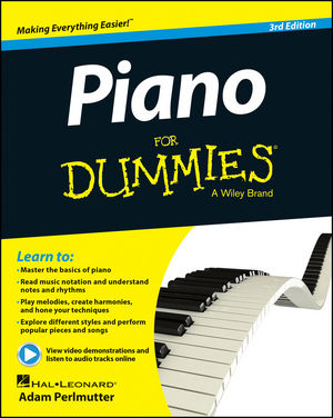Piano For Dummies, Book + Online Video & Audio Instruction, 3rd Edition