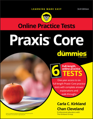 Praxis Core For Dummies with Online Practice, 3rd Edition