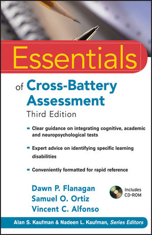 Essentials of Cross-Battery Assessment, 3rd Edition (0470621958) cover image
