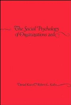 The Social Psychology of Organizations, 2nd Edition (0471023558) cover image