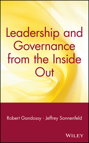 Leadership and Governance from the Inside Out (0471694258) cover image