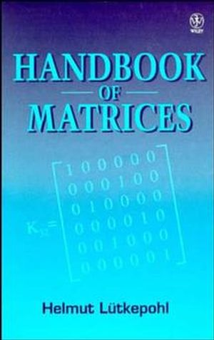 Handbook of Matrices (0471970158) cover image
