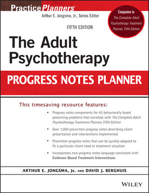 The Adult Psychotherapy Progress Notes Planner, 5th Edition (1118066758) cover image