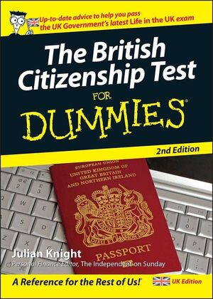 The British Citizenship Test For Dummies, 2nd UK Edition (1119998158) cover image