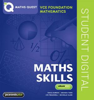 Maths Quest VCE Foundation Mathematics eBookPLUS (Online Purchase)