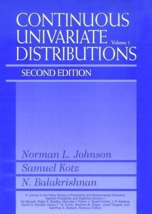 Continuous Univariate Distributions, Volume 1, 2nd Edition