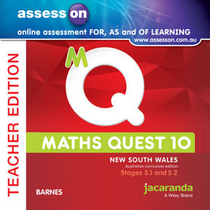 Assesson Maths Quest 10 Pathways 5.1/5.2 For New South Wales Australian Curriculum Teacher Edition (Online Purchase)