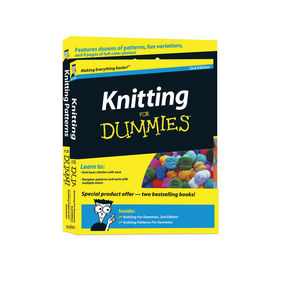 Knitting For Dummies, 2nd Edition & Knitting Patterns For Dummies, Book Bundle (1118035259) cover image