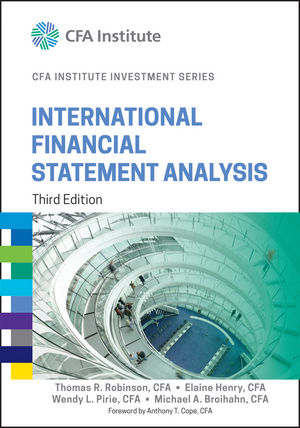 International Financial Statement Analysis, 3rd Edition (1119029759) cover image