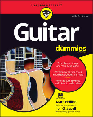 wiley guitar for dummies 4th edition mark phillips jon chappell hal leonard corporation. Black Bedroom Furniture Sets. Home Design Ideas