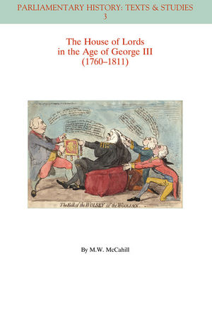 The House of Lords in the Age of George III (1760-1811)  (1405192259) cover image