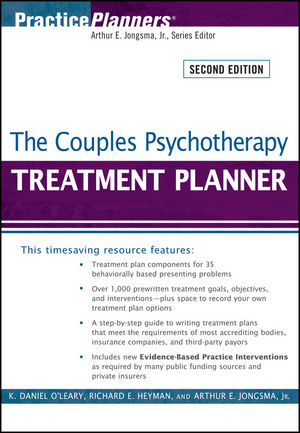 The Couples Psychotherapy Treatment Planner, 2nd Edition (047040695X) cover image