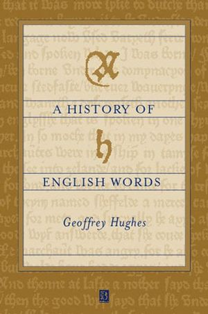A History of English Words (063118855X) cover image