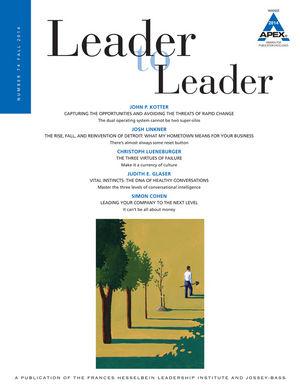 Leader to Leader (LTL), Volume 74, Fall 2014