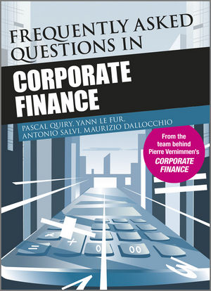 Frequently Asked Questions in Corporate Finance (111997755X) cover image