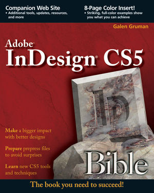 InDesign CS5 Bible (0470770260) cover image