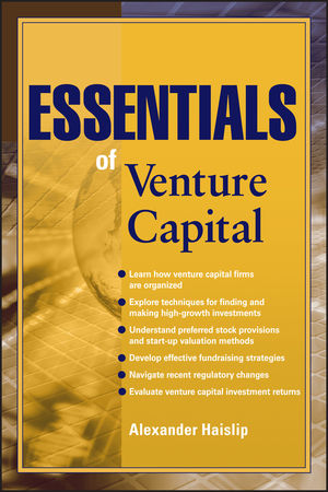 Essentials of Venture Capital (0470910860) cover image