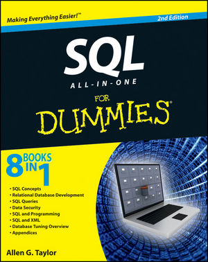 SQL All-in-One For Dummies, 2nd Edition (0470929960) cover image
