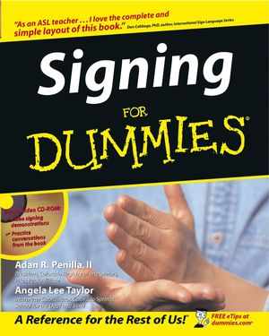 Signing For Dummies (0764554360) cover image