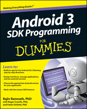 Android 3 SDK Programming For Dummies (1118146360) cover image