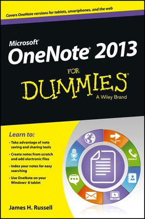 Book Cover Image for OneNote 2013 For Dummies