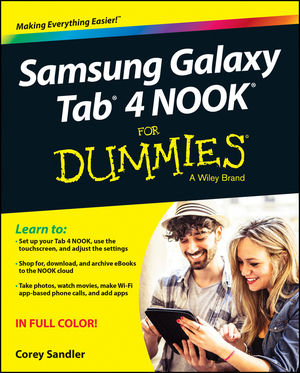 Samsung Galaxy Tab 4 NOOK For Dummies (1119008360) cover image