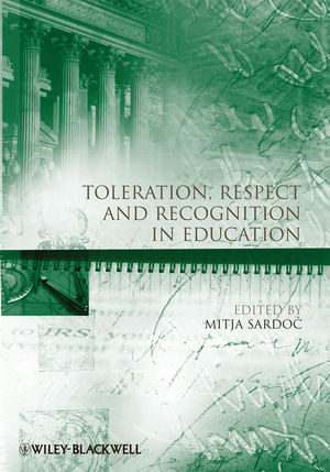 Toleration, Respect and Recognition in Education (1444335960) cover image