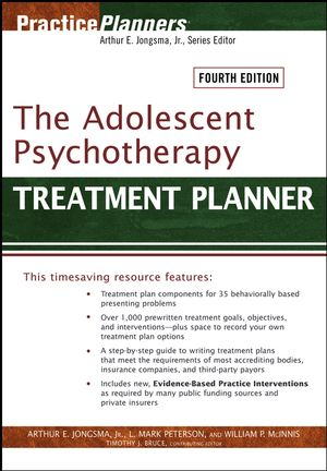 The Adolescent Psychotherapy Treatment Planner, 4th Edition (0470893761) cover image