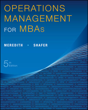 Operations Management for MBAs, 5th Edition (1118546261) cover image