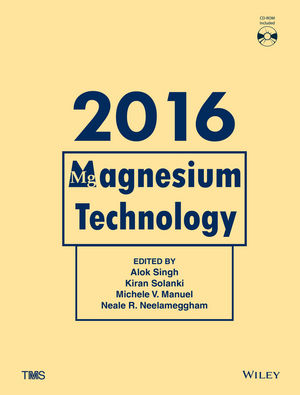 Magnesium Technology 2016 (1119274761) cover image