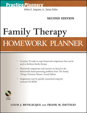 Family Therapy Homework Planner, Second Edition (0470638362) cover image